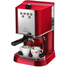 Кофемашина ручная GAGGIA NEW BABY DOSE silver/red